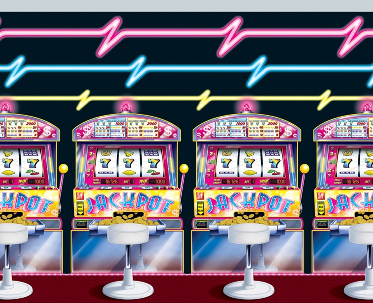 SCENE SETTER - VEGAS/CASINO SLOT MACHINE AND NEON BACKDROP