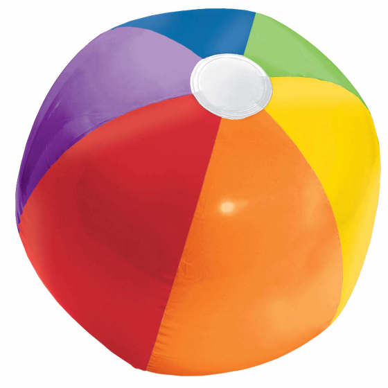 INFLATABLE BEACH BALL IN RAINBOW COLOURS