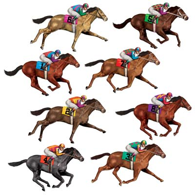 RACEHORSE INSTA-THEME PROP PACK OF 8