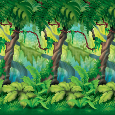 SCENE SETTER - JUNGLE TREES & VINE BACKDROP