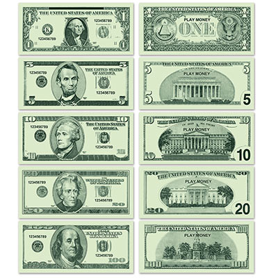 PAPER PHONEY MONEY GREENBACKS - PACK OF 100