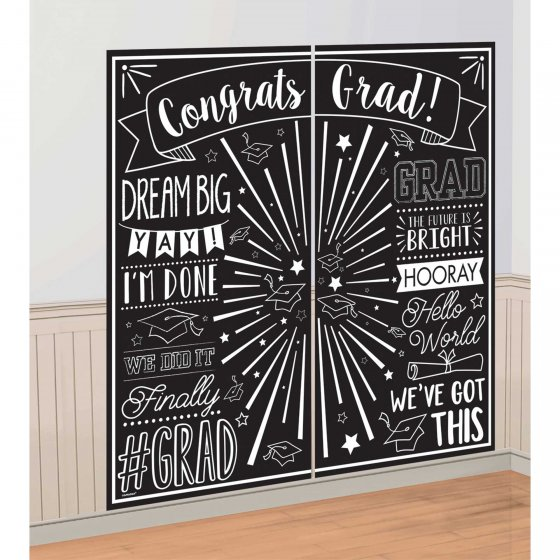 SELFIE PHOTO BOOTH PROPS -  GRADUATION WALL SCENE SETTER