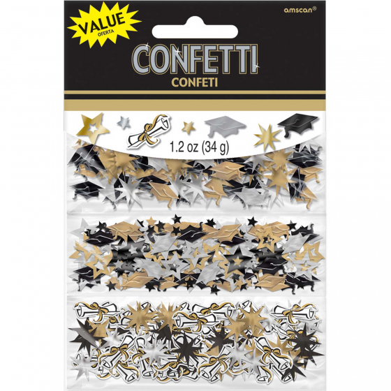 TABLE SCATTERS - GOLD, SILVER & BLACK GRADUATION VALUE PACK