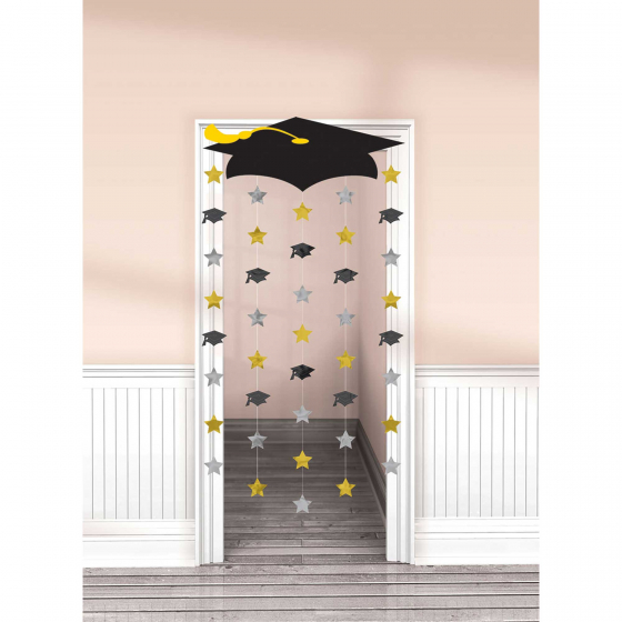 GRADUATION CAP DOORWAY CURTAIN