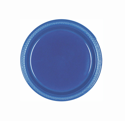 DISPOSABLE ENTREE / SNACK PLATE - NAVY FLAG BLUE PACK OF 20