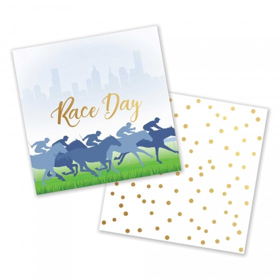 MELBOURNE CUP RACE DAY COCKTAIL NAPKINS - BULK PACK OF 50