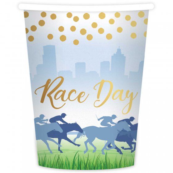 MELBOURNE CUP RACE DAY CUPS - PACK OF 8