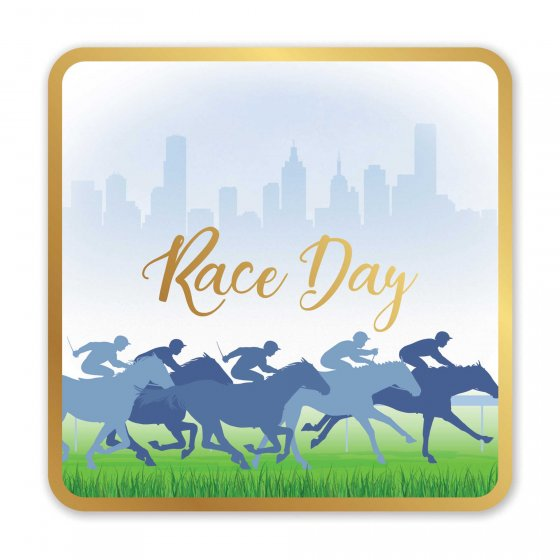 MELBOURNE CUP RACE DAY DRINK COASTERS - BULK PACK OF 50