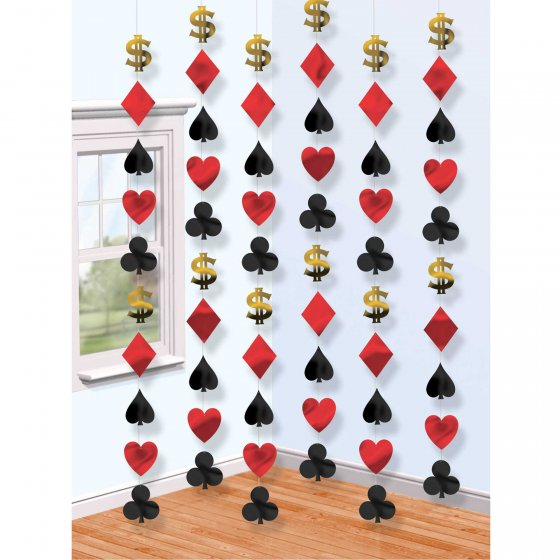 CASINO HANGING DOORWAY STRING DECORATIONS