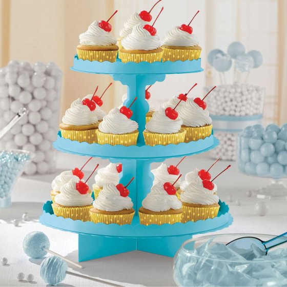 CUPCAKE STAND CARIBBEAN BLUE - BIRTHDAY BOY