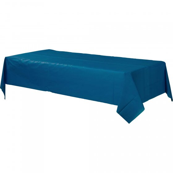 DISPOSABLE TABLECOVER - RECTANGULAR NAVY FLAG BLUE