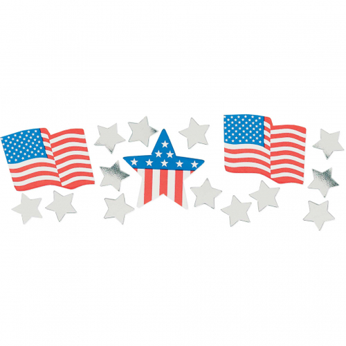 PATRIOTIC TABLE SCATTERS - USA FLAGS & STARS