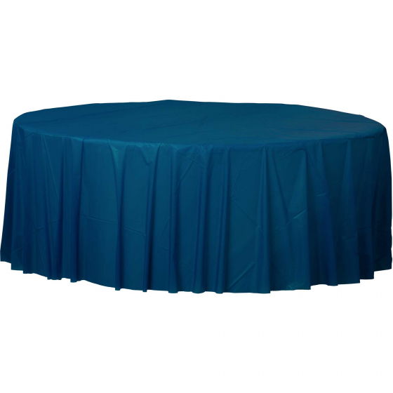 DISPOSABLE TABLECOVER - CIRCULAR NAVY BLUE