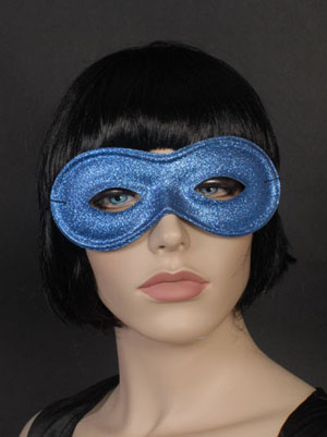 MASK - GLITTERED PLASTIC EYE MASK - AVAIL IN 6 COLOURS