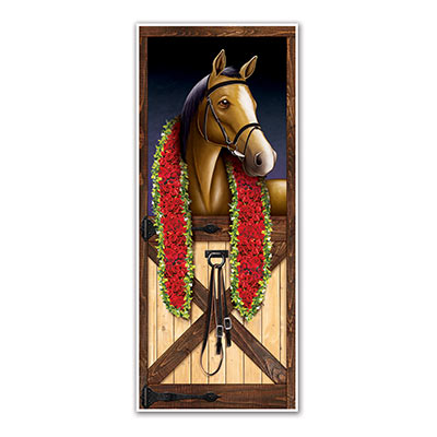 MELBOURNE CUP HORSE RACING DOOR COVER