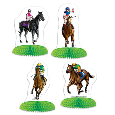 HORSE RACING MINI TABLE CENTREPIECES - PACK OF 4