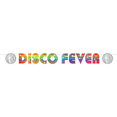70'S DISCO FEVER PARTY STREAMER BANNER