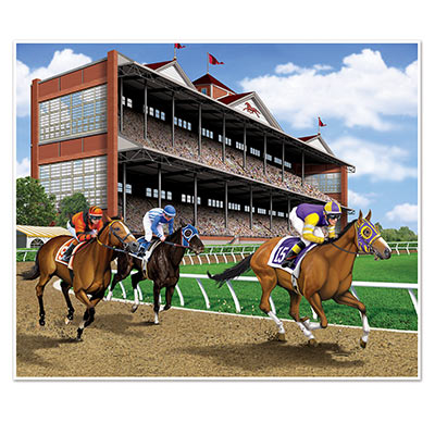 HORSE RACING INSTA MURAL WALL BACK DROP