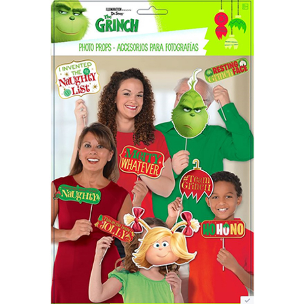 SELFIE PHOTO BOOTH PROPS - CHRISTMAS THE GRINCH DR SUESS