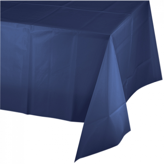 DISPOSABLE TABLECOVER - RECTANGULAR NAVY BLUE