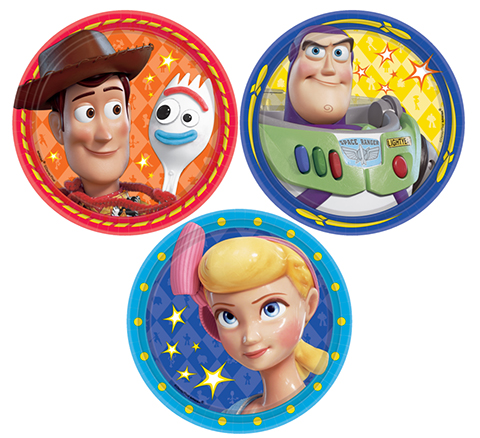 TOY STORY 4 SIDE PLATES - PACK OF 8