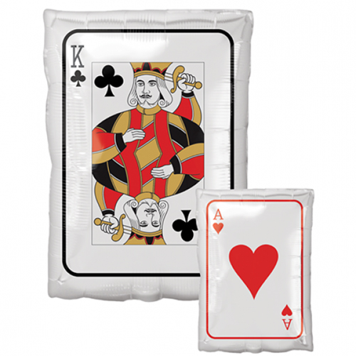 FOIL BALLOON - KING ACE PLAYING CARD JUNIOR SHAPE
