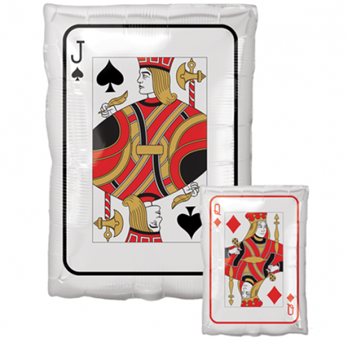 FOIL BALLOON - JACK QUEEN PLAYING CARD JUNIOR SHAPE