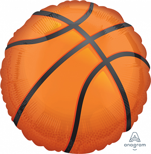 FOIL SUPER SHAPE BALLOON - BASKETBALL