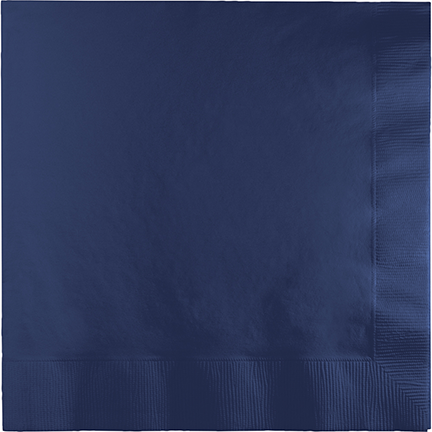 NAPKINS - NAVY FLAG BLUE LUNCH PACK 50