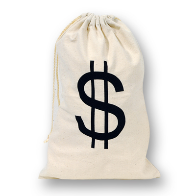 MONEY BAG LARGE WITH DRAWSTRING - FABRIC
