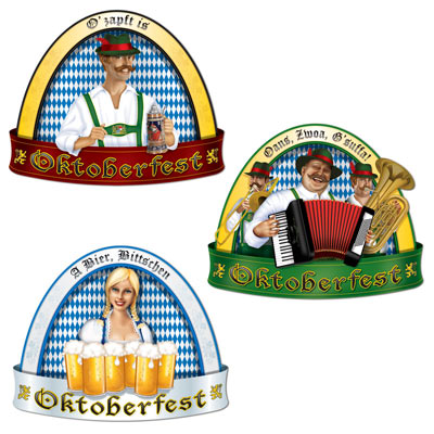 OKTOBERFEST CUTOUTS - PACK OF 3
