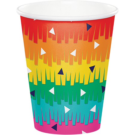 MEXICAN FIESTA FUN CUPS PACK OF 8