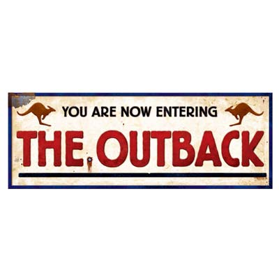 AUSTRALIAN OUTBACK SIGN CUT