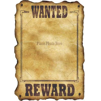 WESTERN WANTED REWARD SIGN