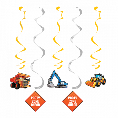 BIG DIG CONSTRUCTION DIZZY DANGLERS - PACK OF 5
