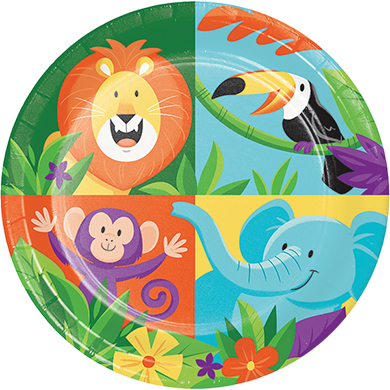 JUNGLE SAFARI ADVENTURE LUNCHEON PLATES - PACK OF 8