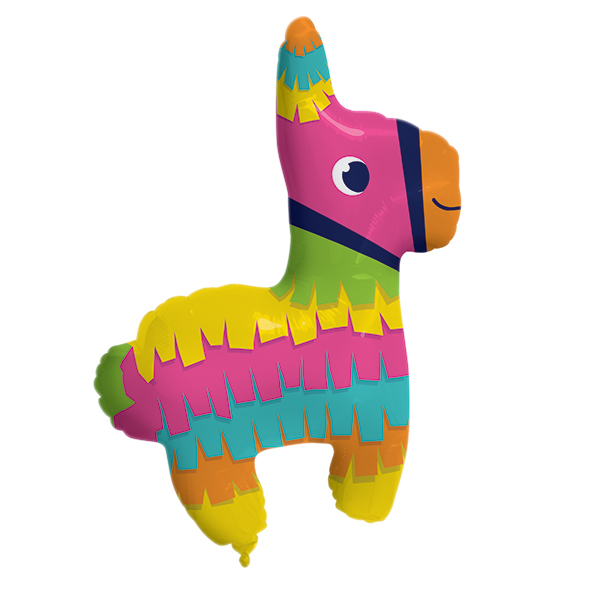 FOIL SUPER SHAPE BALLOON - MEXICAN PINATA DONKEY