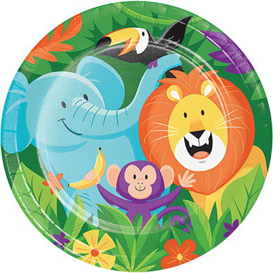 JUNGLE SAFARI ADVENTURE DINNER PLATES - PACK OF 8