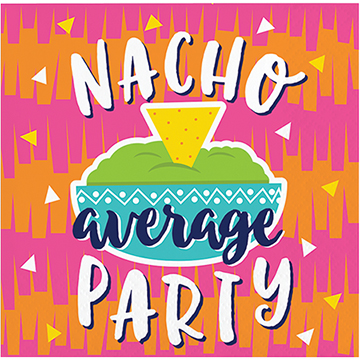 MEXICAN FIESTA FUN COCKTAIL NAPKINS \'NACHO\' PACK OF 16