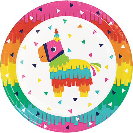 MEXICAN FIESTA FUN DINNER PLATES PACK OF 8