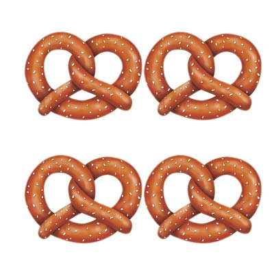 OKTOBERFEST GERMAN PRETZEL CUT OUTS PACK OF 4