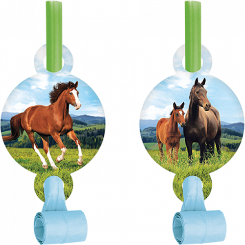 WILD HORSES MEDALLION BLOWOUTS - PACK OF 8