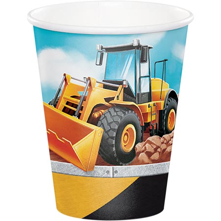 BIG DIG CONSTRUCTION CUPS - PACK OF 8