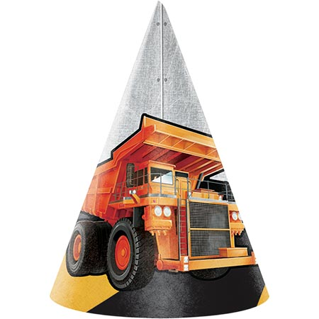 BIG DIG CONSTRUCTION CONE HATS - PACK OF 8