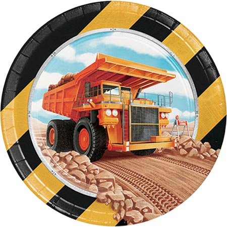 BIG DIG CONSTRUCTION LUNCH PLATES - PACK OF 8