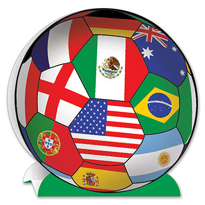 INTERNATIONAL FLAG SOCCER BALL CENTREPIECE
