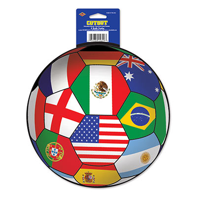 INTERNATIONAL FLAG SOCCER BALL CUT OUT