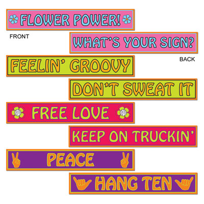 HIPPIE STREET SIGNS PACK OF 4