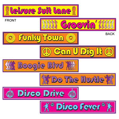 DISCO STREET SIGNS CUT OUTS