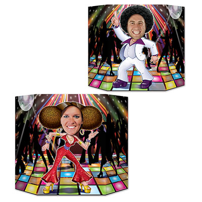 PHOTO PROP - DISCO DANCER COUPLE